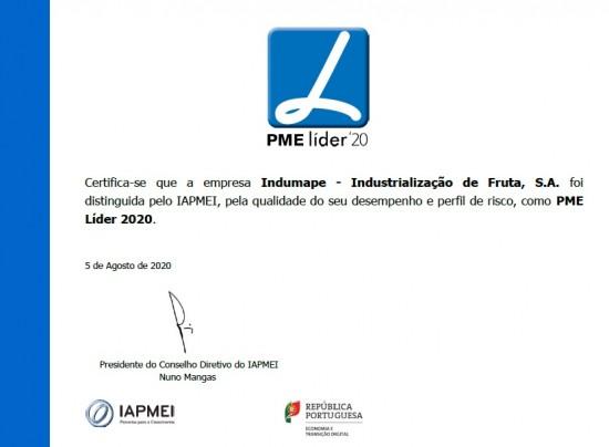Indumape is PME Leader 2020